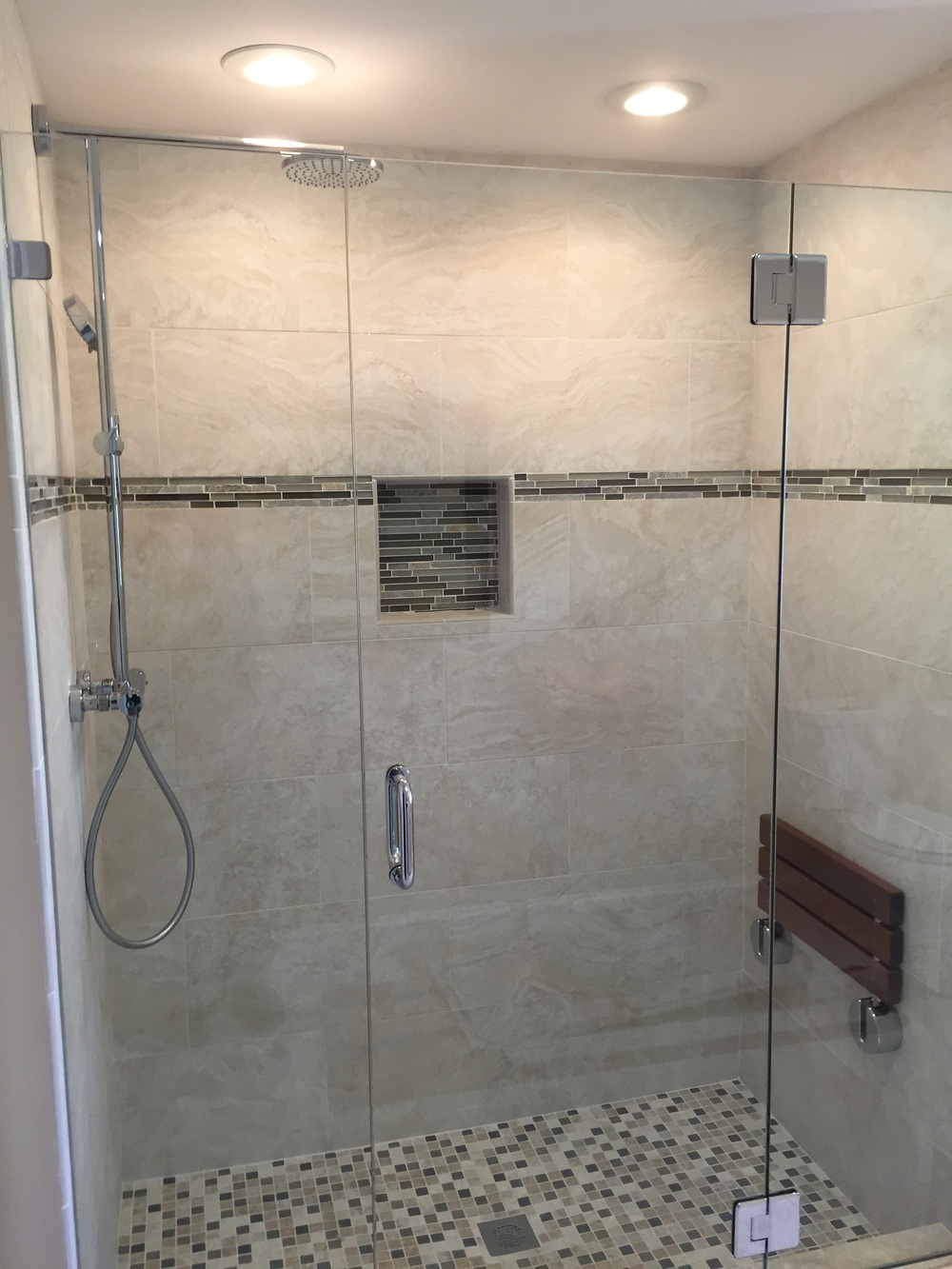 Tiled Shower in Master Bathroom Renovation in East Lyme CT | Shaw Remodeling