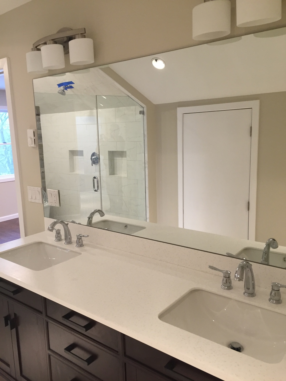 New Vanity in Bathroom Remodel in Waterford CT | Shaw Remodeling