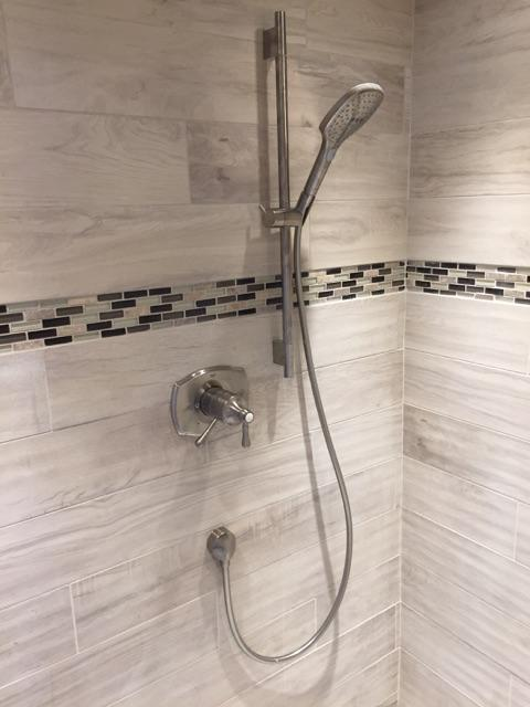 Shaw Remodeling Tile Shower Fixture