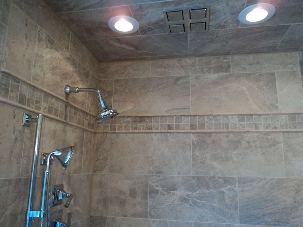 Shaw Remodeling Master Bathroom Rain Shower