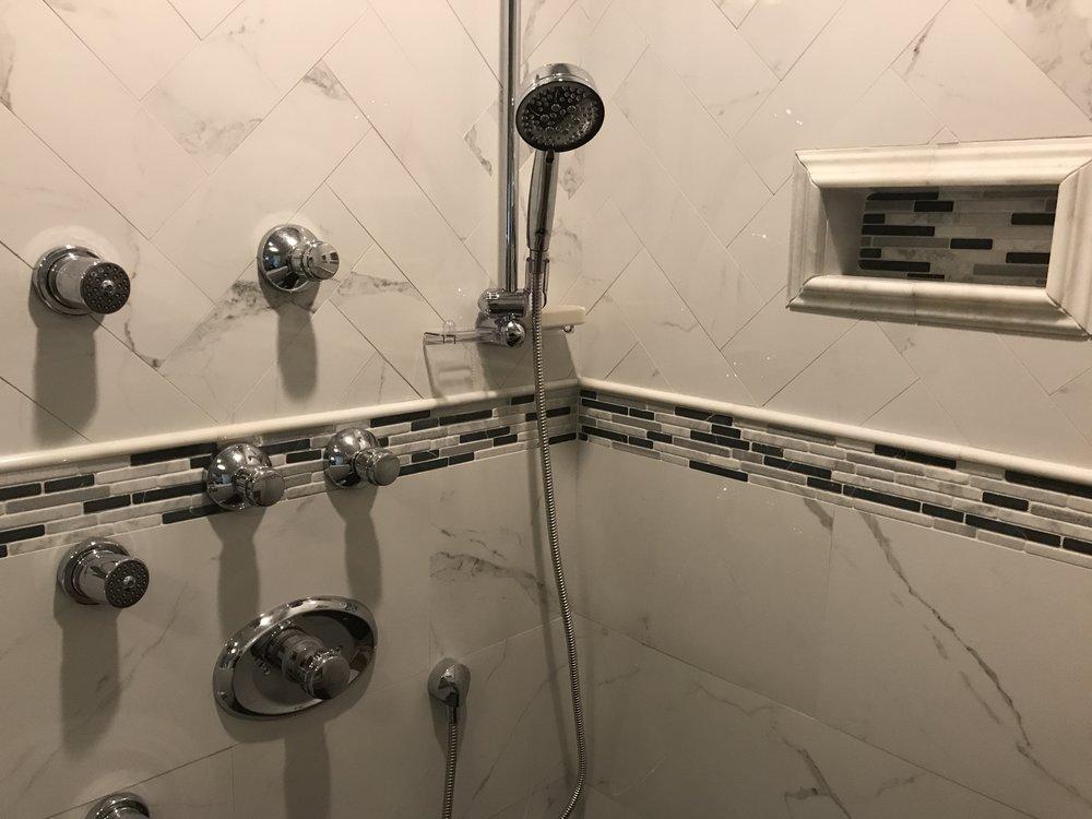 Tiled Shower in Bathroom Remodel