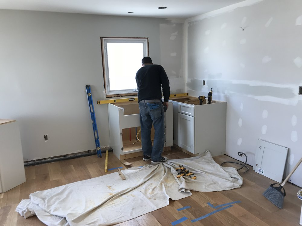 Shaw Remodeling - Progress photo - kitchen and bathroom remodel Niantic CT (1).jpg
