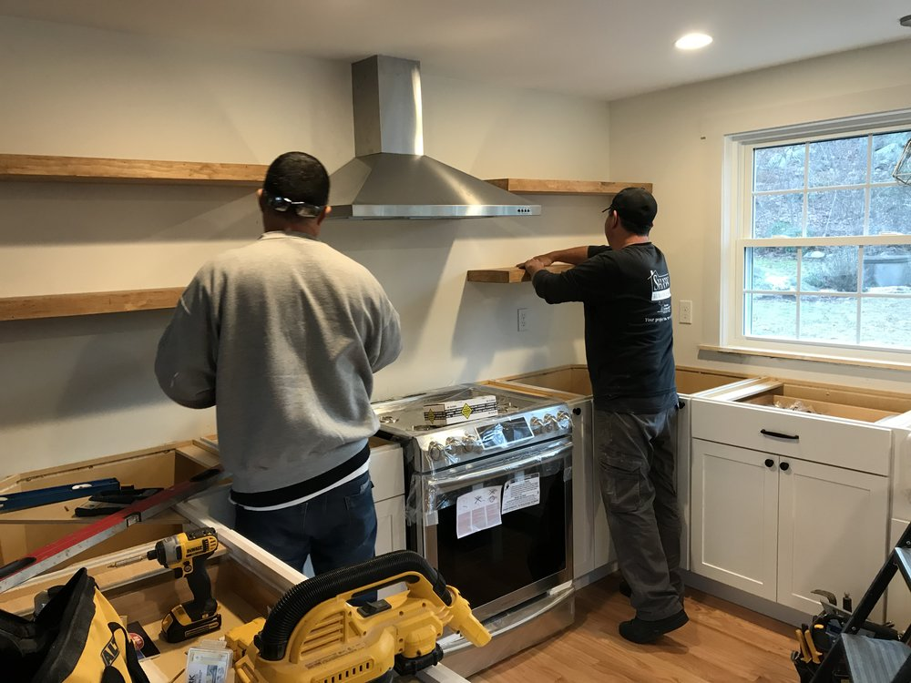 Kitchen Remodel/Garage Conversion in East Lyme CT