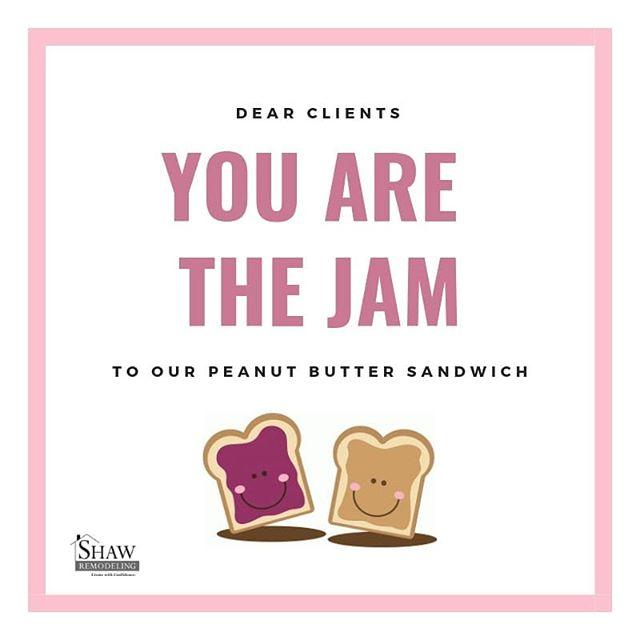 Happy Valentine's Day to our other half 😍 #bettertogether #bemine #happyvalentinesday #valentinesday2019 #peanutbutter #jam #valentines #clientappreciation