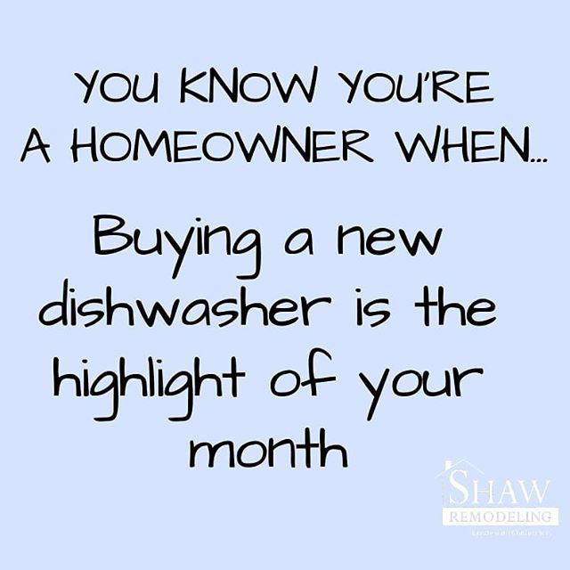 YASSS! 😃😂 #adventuresinremodeling #homeownerlife #homeowners #remodeling #renovations #appliances #dishwasher #marriage #contractorsofinsta