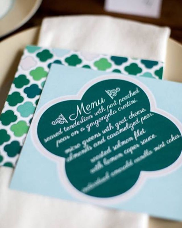 Gorgeous menu cards - loving the multi-hue greens! @mfrancisdesign @theblisslife_events  #styledshoot #styledwedding #greenwedding #emeraldwedding #stpattyday #stpattydaywedding #weddingideas #weddinginspiration #weddingsbybernadette #weddingphotographer #weddingstyle #weddingdecor #weddingstationery #weddingdesign #mnwedding #minnesotawedding #mplswedding #minneapoliswedding #menucards #weddingmenucards
