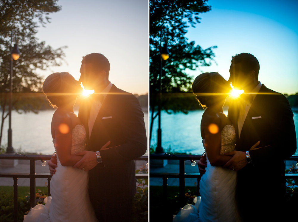This sunset over the lake was epic (well, the way the Bride and Groom experienced it!). As you can see, I changed the color tone to showcase the blues of the twilight hour and the lake.