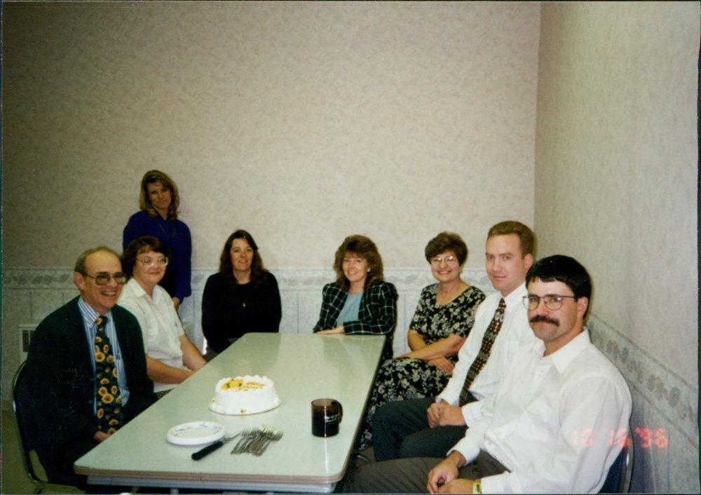 Seydel, Brenda Swart, Amber Yates, Pam Profili, Sherri McDonald, Judy Clemens, Dan McDonald & Poe - 1996