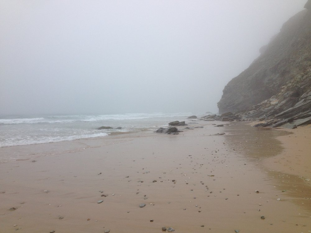 Misty, deserted beaches.