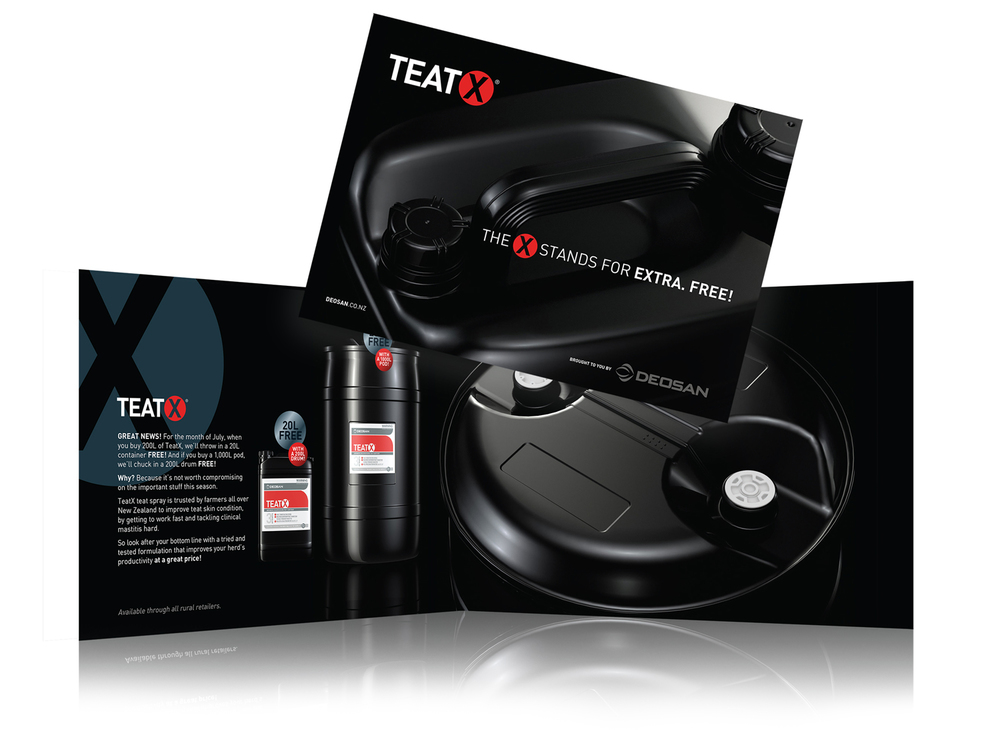 Promotional brochure for TeatX