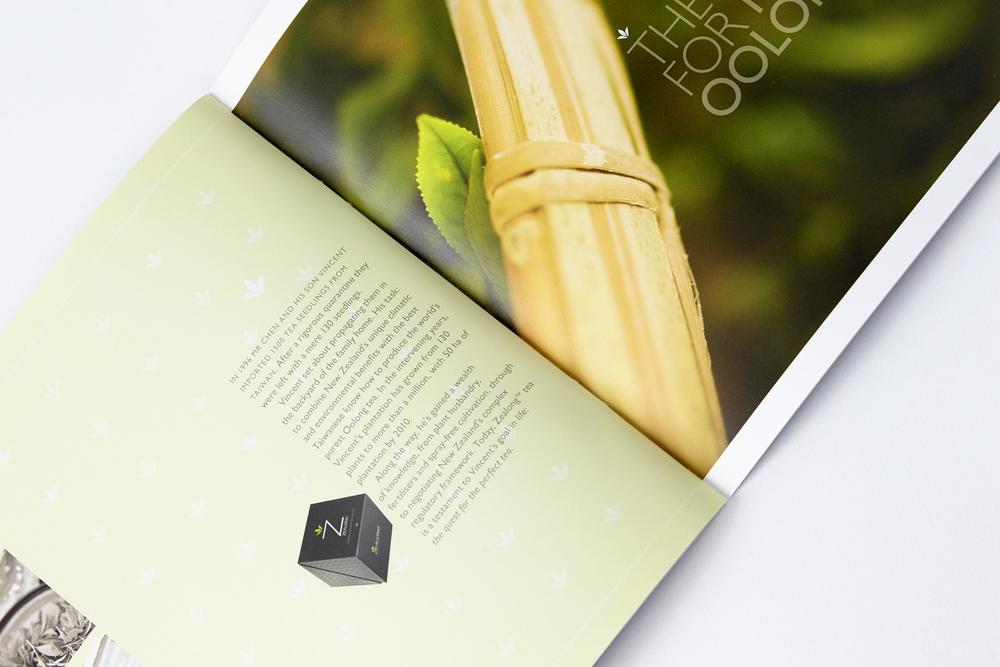 Corporate brochure for Oolong Tea company