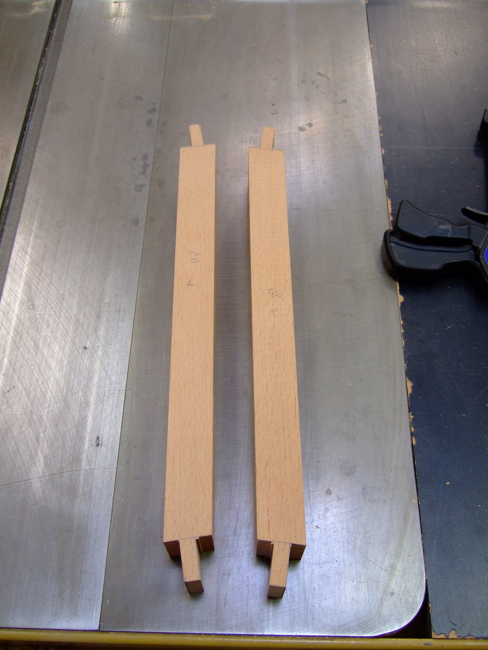 Tenons cut on the table saw but they still need to be trimmed and fit by hand.
