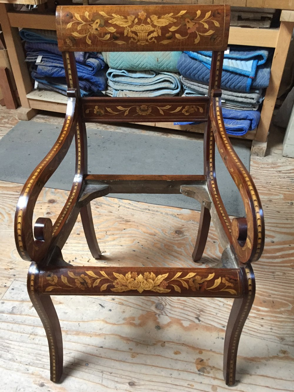 Restored armchair.