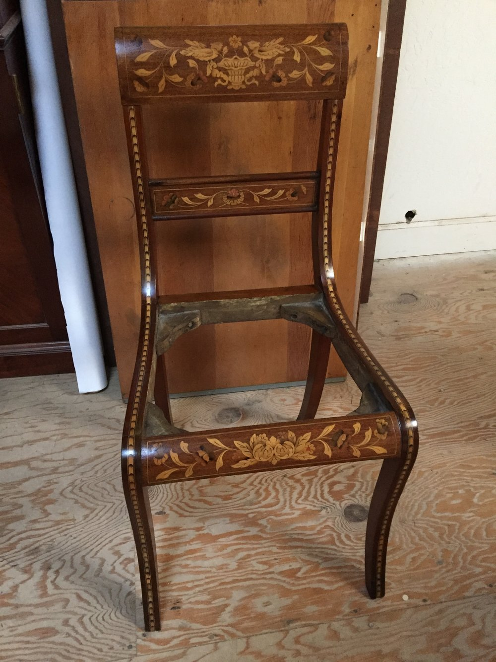 Restored side chair.