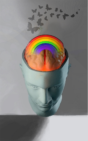 EMDR Therapy integrates resources from left and right hemispheres to create a rainbow of reliefs from traumas.