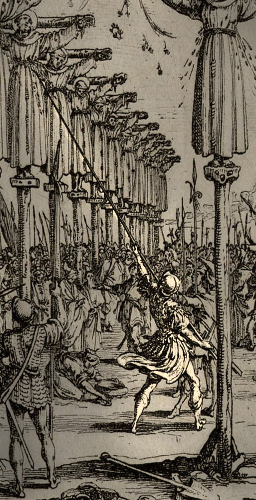 Jacques Callot, The Martyrs of Japan, 1627, Detail