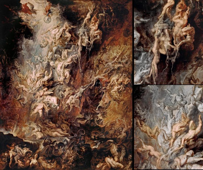 Peter Paul Rubens, The Fall of the Damned, circa 1620   Placement: Qualquer parte do corpo, desde que tenha tamanho apropriado e suficiente para que o tema possa ser satisfatoriamente explorado. Incluvise Full BodySuite.