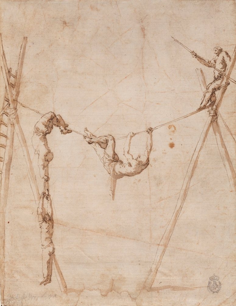 José de Ribera, Acrobats on the rope, 1630.