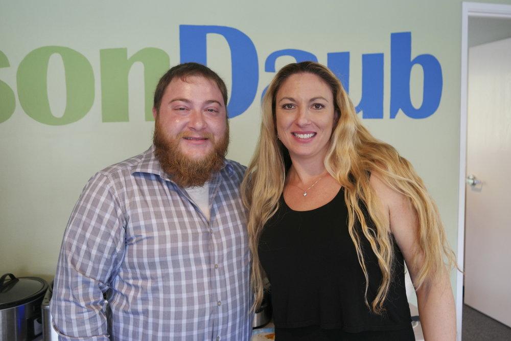 Chili Winner Grant McCreary and Pie Winner Krista Padilla