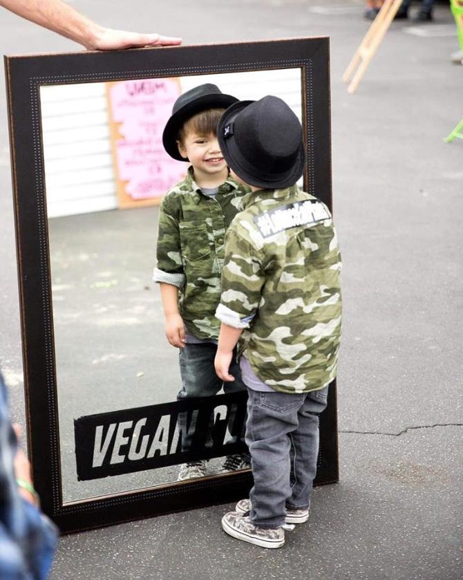 Vegan Club custom framed mirror for artist Constantin Lefou. @iamlefou