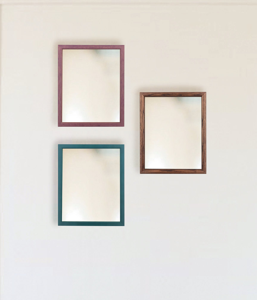 Custom Mirrors - Leaning mirrors or mounted wall mirrors with your choice of frame.