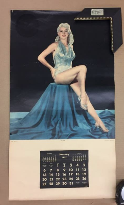 1957 Pin Up Calendar Vintage Retro