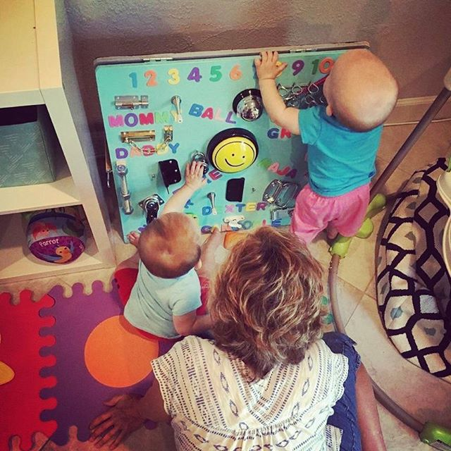 Our latest project ... nah, not really. Our creative director's nieces exploring a homemade busy board (thanks Grammy + Grampy) ... We're pretty sure this will make 'em creatives one day.