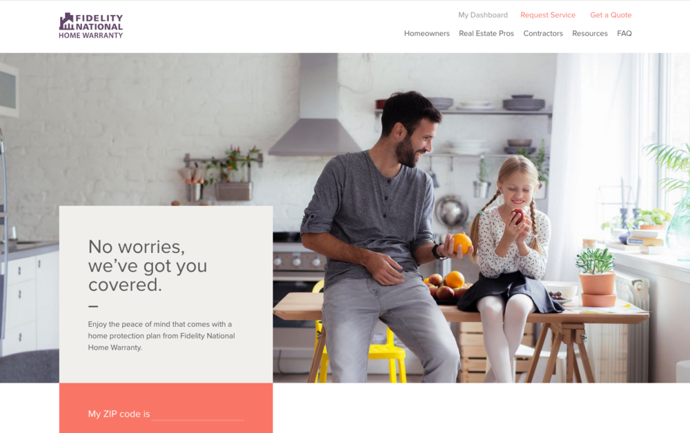 The New Home Page.