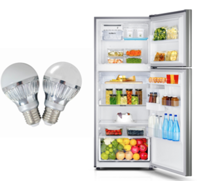 LED Bulbs and Fridge