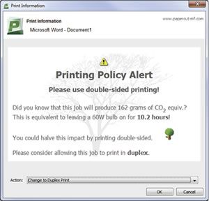 Create rules to limit user behaviour and enforce sensible printing policies with Ricoh's cost control print solutions.