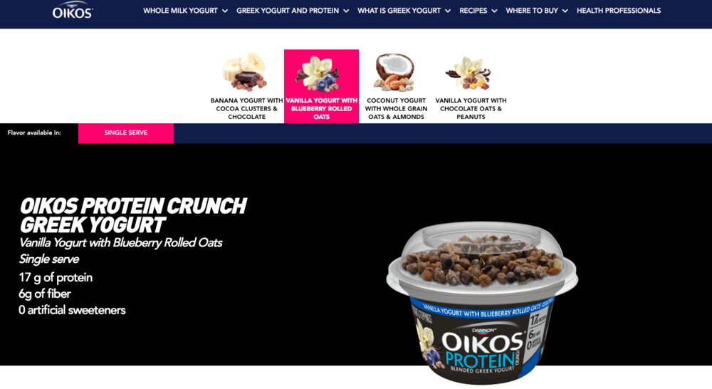 Oikos Protein Crunch Campaign