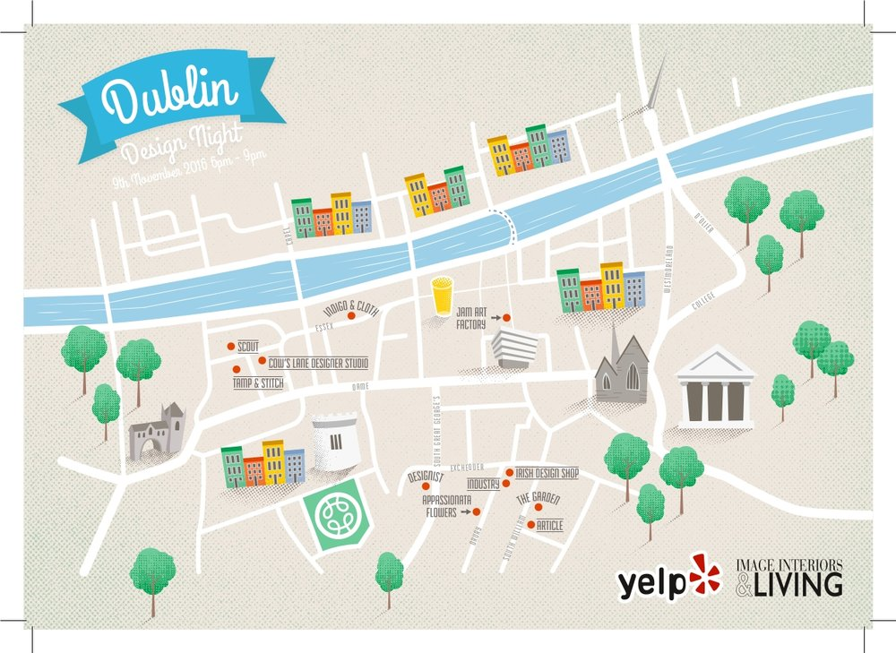 Dublin Design Night 2016 Map