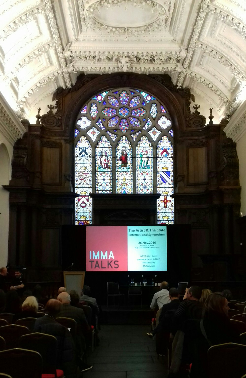 The stunning chapel room inside the Irish Museum of Modern Art at the Artist and the State Symposium