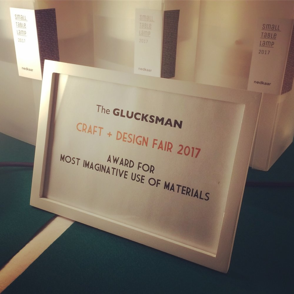 "Chuffed to received the inaugural ""Most Imaginative Use of Materials"" award!"