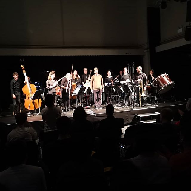 Standing ovation for these guys @samperkincomposer and @crashensemble after an amazing performance of Grey Area today - amazing pieces of music - shout out also to @goblinskatemag_ and @musictowndublin who got on board to bring a bunch of sound, old and new, skate heads together! 🛹🎻