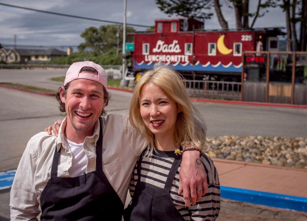 Chef Scott Clark with his wife Alexis Liu
