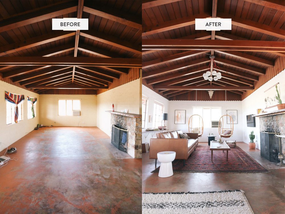 The Joshua Tree House - before & after