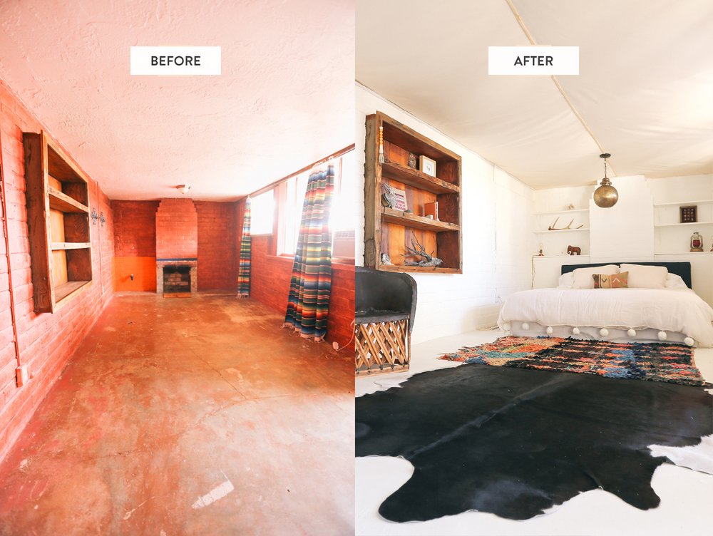 The Joshua Tree House before & after