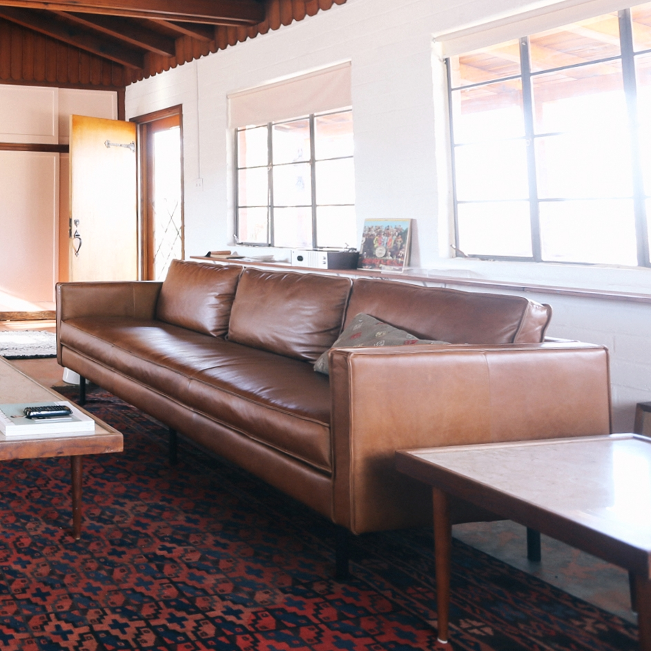 Leather Couch // West Elm
