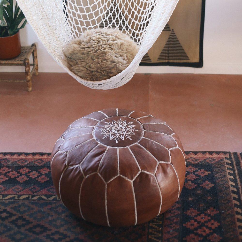 Moroccan Pouf // Etsy
