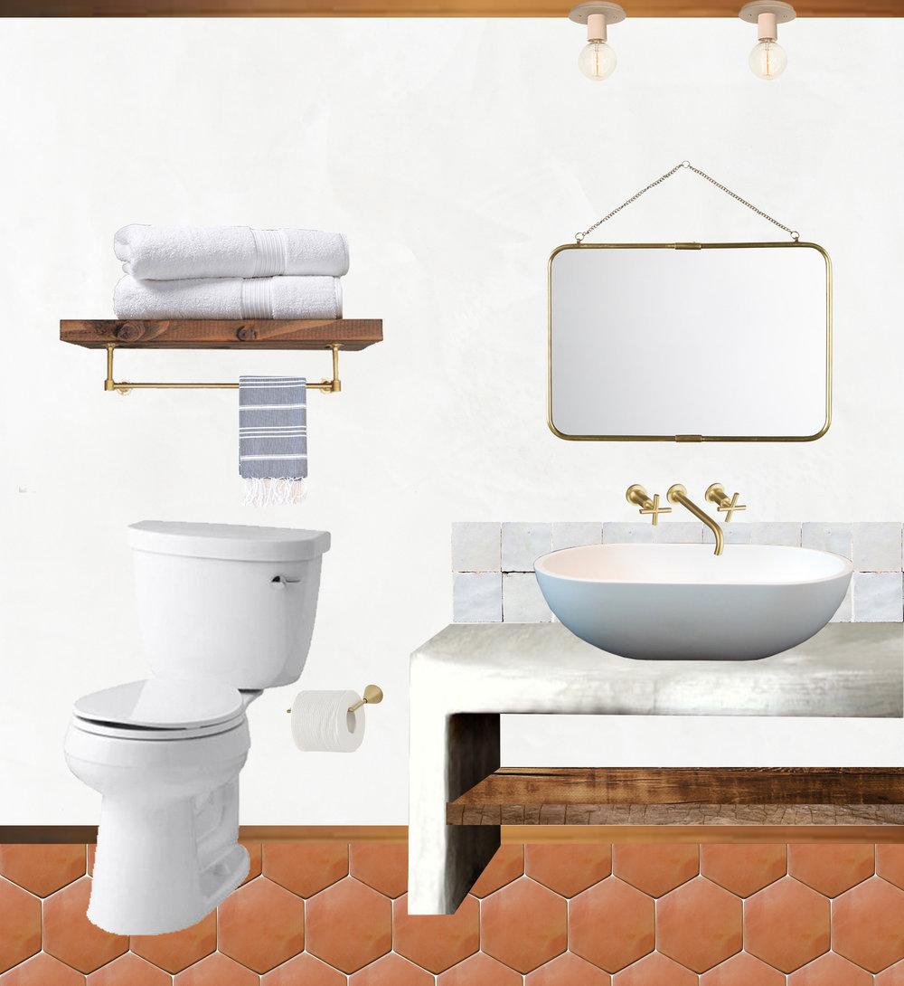The Joshua Tree Hacienda bathroom design