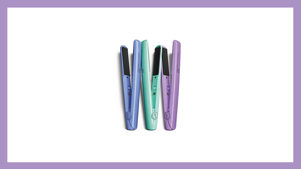These flat irons give you the perfect, sleek style and come in gorgeous colors.