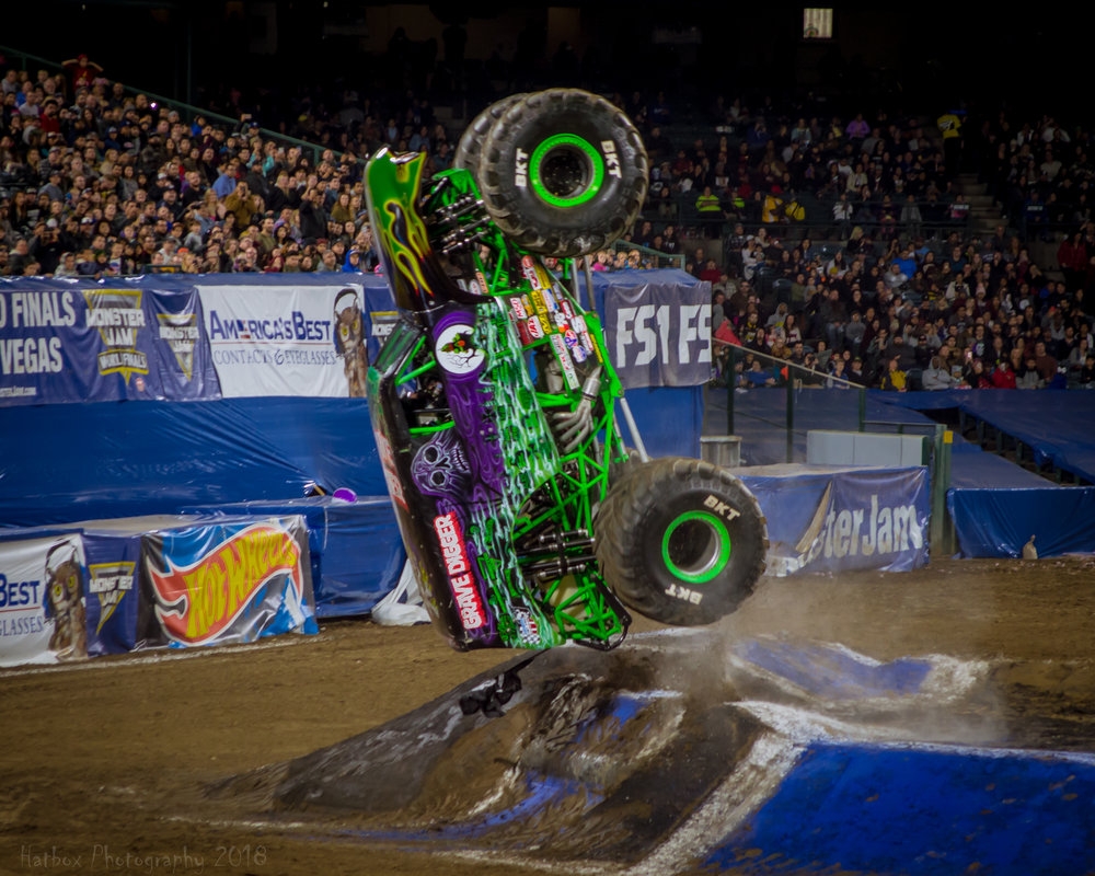 Grave Digger is an original concept from Dennis Anderson and one of if not the most popular truck on the Monster Jam circuit. Charlie Pauken usually drives Grave Digger when the truck comes to Anaheim and always puts on a great show. 2018 was no different.