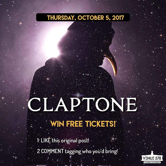 Heres your chance to win a pair of tickets to see @claptone.official this Thursday! Follow the instructions above!  FOLLOW @venue578 for bonus entries!