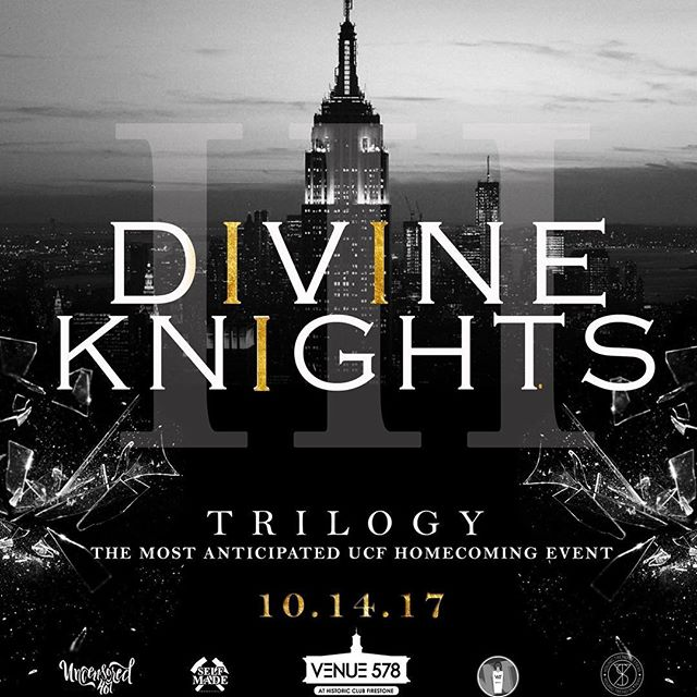#UCF Homecoming's most anticipated event of the year is less than a week away! Get ready for a #DivineKnight you won't forget!  Tix: http://bit.ly/DivineKnights578