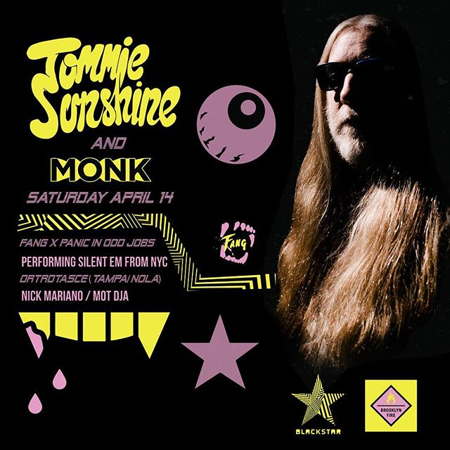 The Legendary Saturday / Thursday Party is back from the dead. @tommiesunshine and DJ Monk will be hitting it hard April 14. Tickets at the Blackstar.club.  #fangisaparty #fangisforyou. #tommiesunshine #djmonk #rabbitinthemoon #dancemusic #blackstar