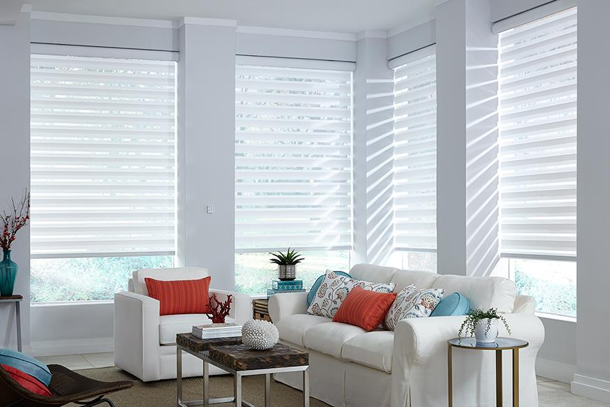 Furniture & Window Treatments   Flooring & Design has many different window treatments & furniture available. We use  Lafayette Interior Fashions as a supplier and are able to provide transition shades, wood shades, fabric, and much more. For more details, visit our  Window Treatments Page .