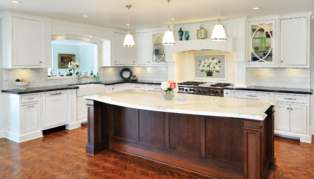 Cabinets   Flooring & Design can highly customize and guide you through your cabinet purchase. Our suppliers for cabinets are  Woodland Cabinetry ,  Mid Continent Cabinetry , and  Koch Cabinetry . We also are able to offer custom cabinets.For more details, visit our  Cabinets Page .