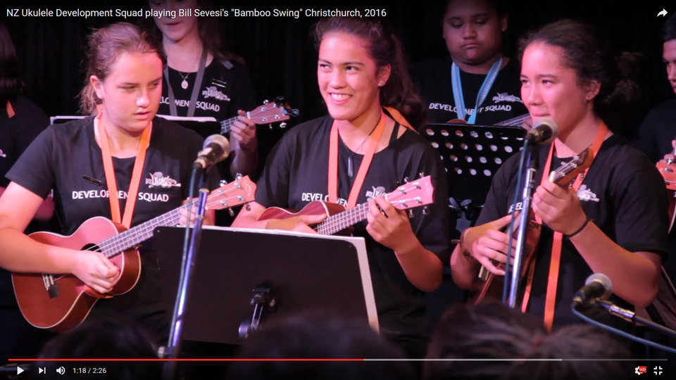 NZ Ukulele Development Squad    playing  Bamboo Swing by  Bill Sevesi    Christchurch, 2016    Arrangement and Direction by Philip Griffin