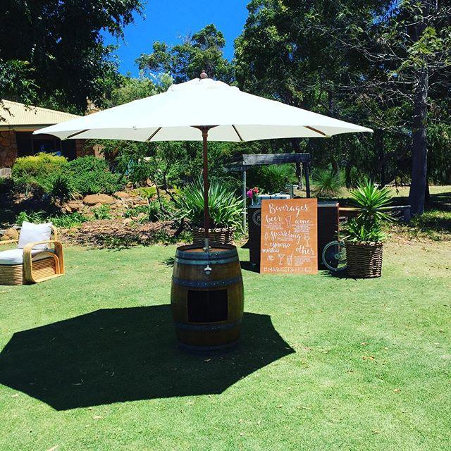 Back yard parties are next up. Have u got shade?  #barrelsandbrellas #shade #marrydownsouth #coasttocountryweddings #love